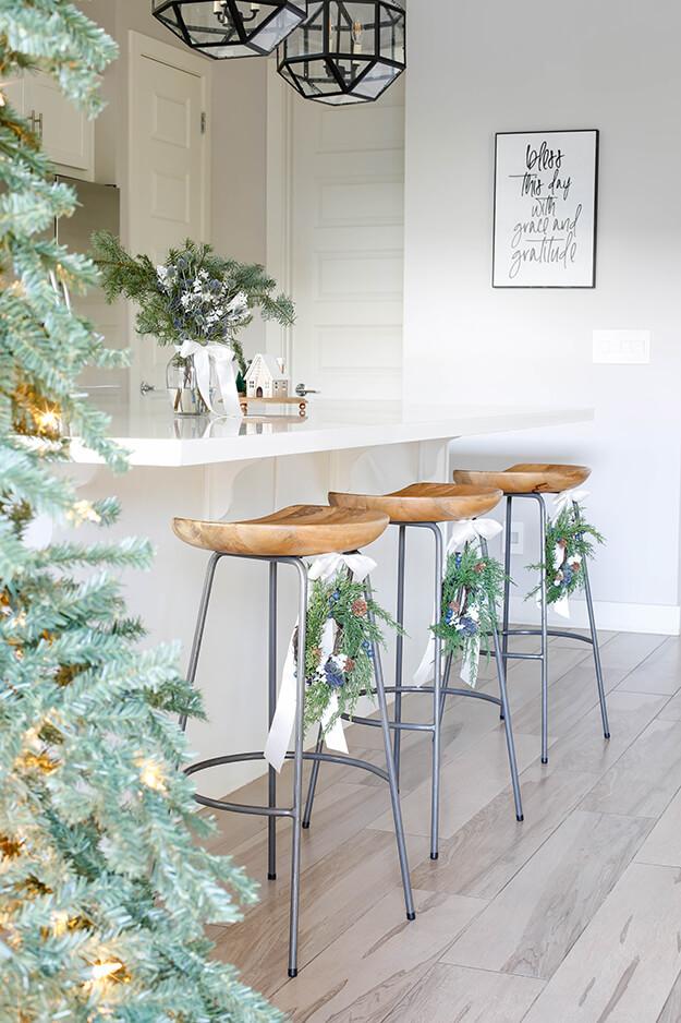 Modern simple blue and sage Christmas -16