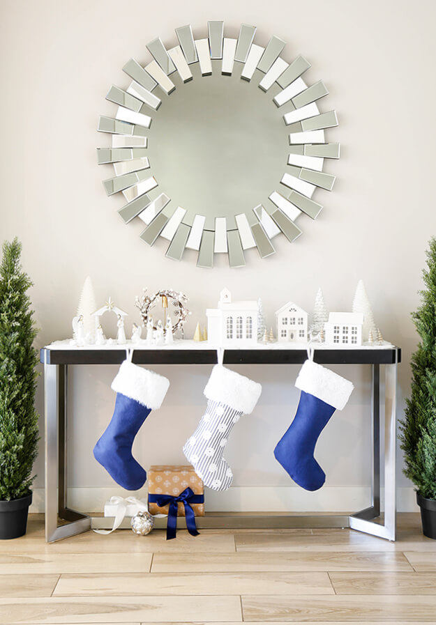 Modern simple blue and sage Christmas -17