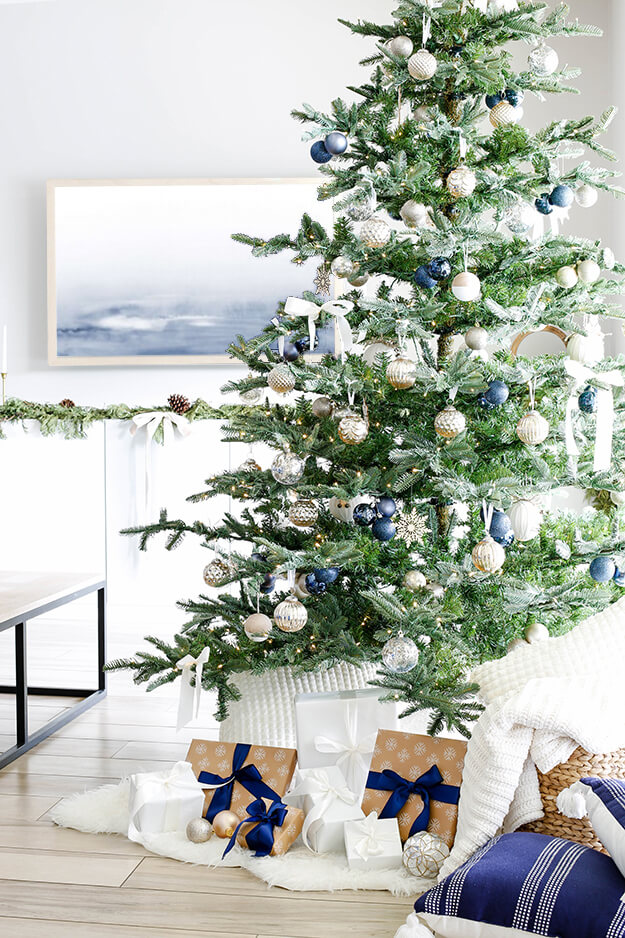 Modern simple blue and sage Christmas -2