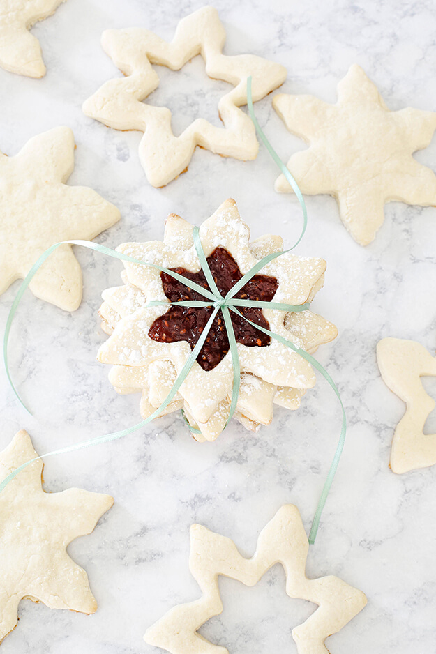 the best jam filled cream cheese sugar cookies