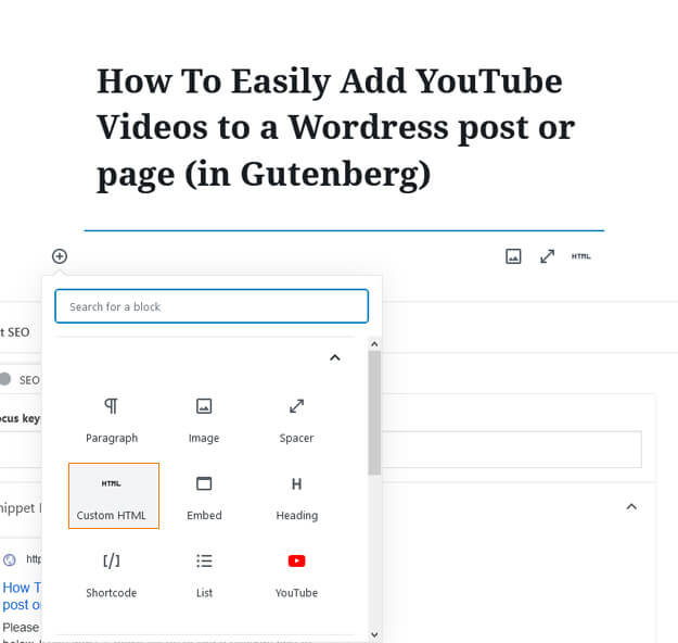 How To Easily Add YouTube Videos to a Wordress post or page