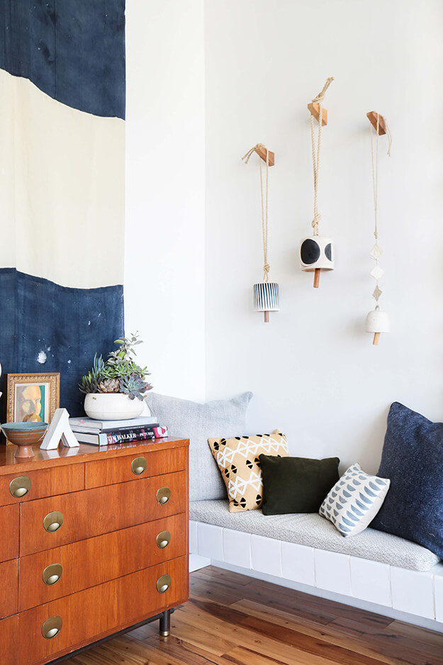 Effortless Minimal Casual Art diy home decor bells via emily henderson