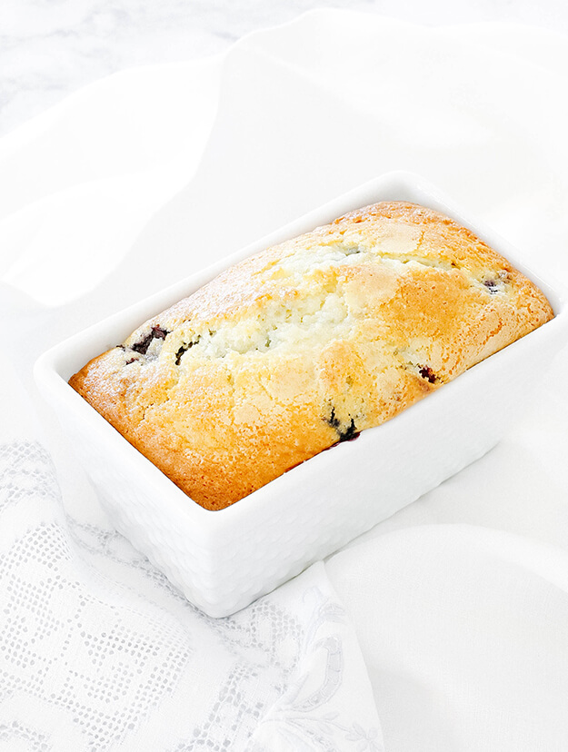 Glazed Blueberry Bread Loaf