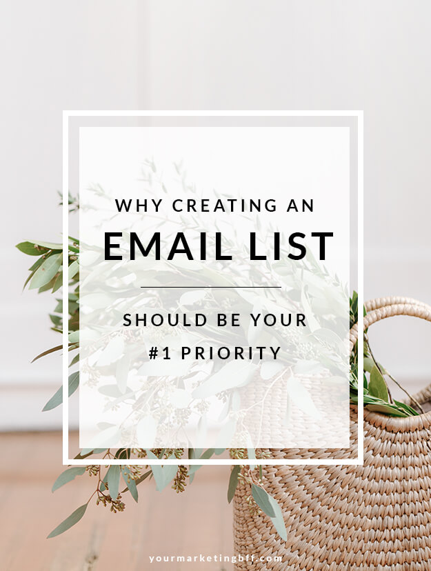 Why creating an email list should be on your priority to do list
