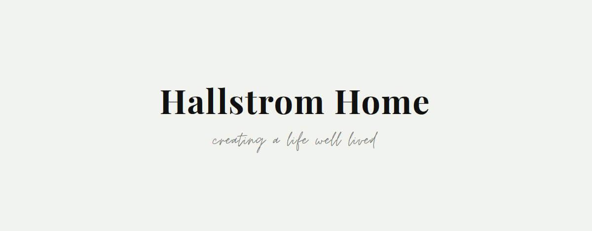 Hallstrom Home website design branding logo by Your Marketing BFF