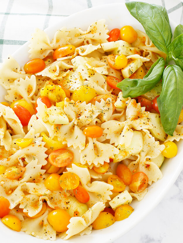 the easiest bow tie pasta salad -1