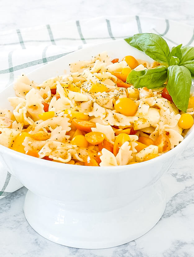 the easiest bow tie pasta salad -3