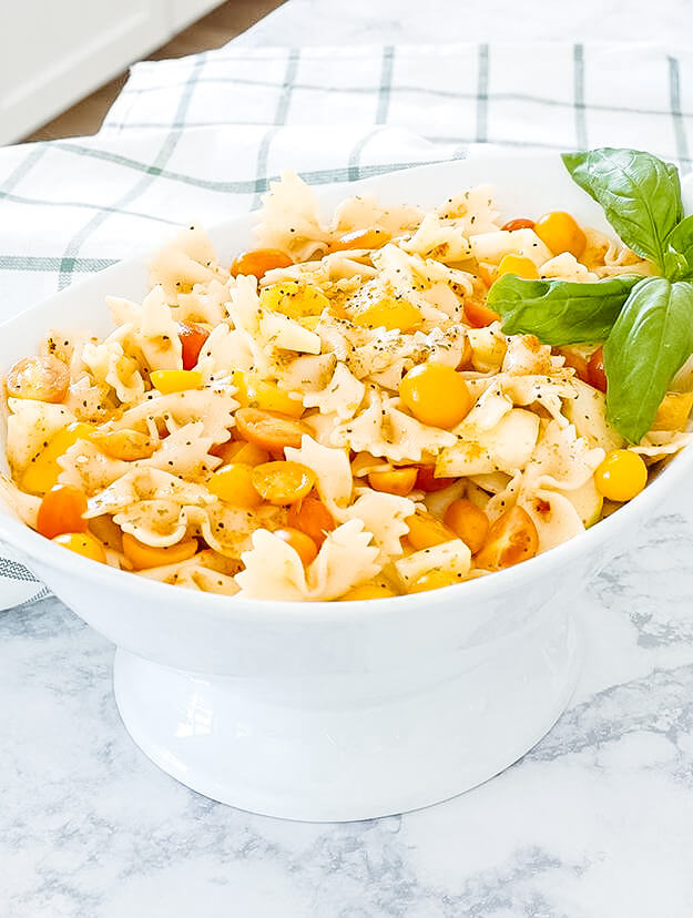 the easiest bow tie pasta salad -5