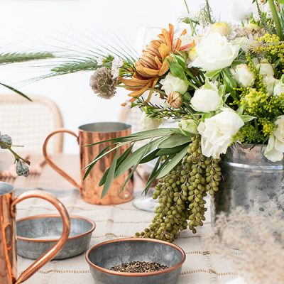 Rustic Modern Natural Thanksgiving Tablescapes -feature