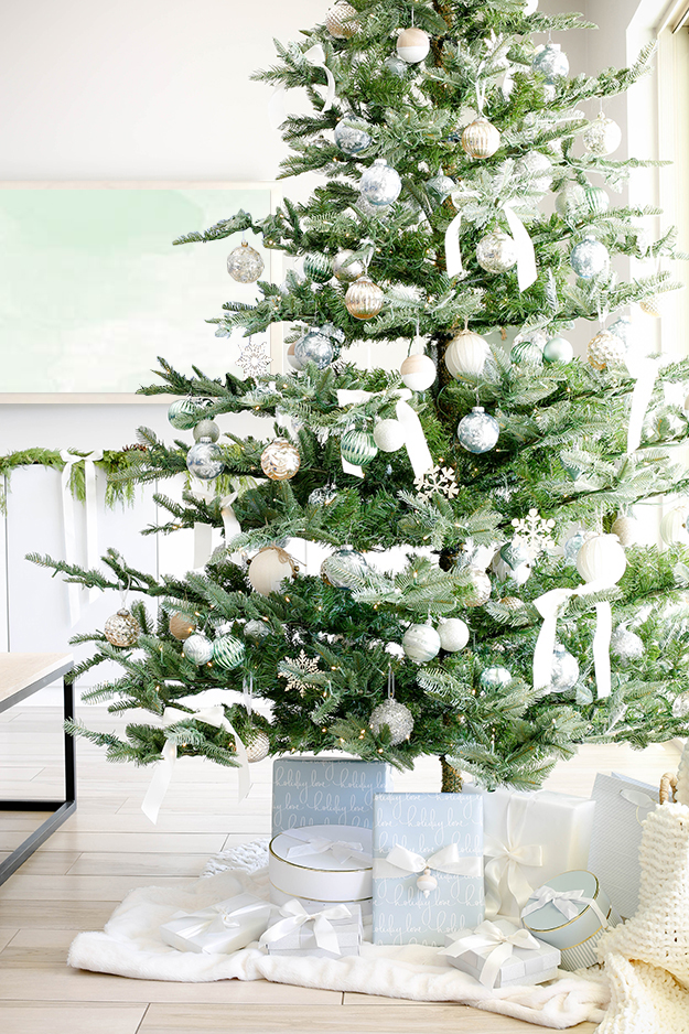 Modern Sage and Metallic Christmas Home Tour